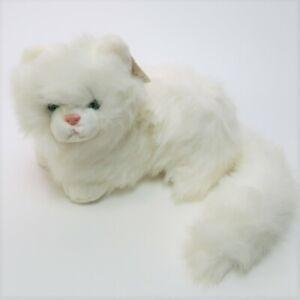 "Russ Caress Soft Pet NIKKI Persian Cat 12"" Plush Green Eyes Stuffed Animal"
