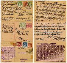 CZECHOSLOVAKIA UPRATED POSTAL STATIONERY 3 CARDS 1919-23