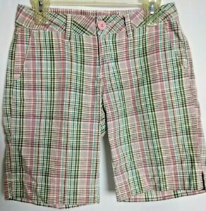 UnionBay Casual Shorts Multi-Color Plaid Womens Size 3