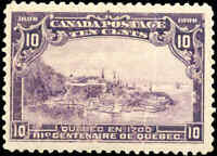 1908 Mint Canada F+ Scott #101 10c Quebec Tercentenary Issue Stamp Never Hinged