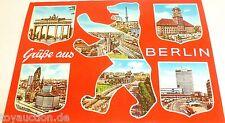 Grüße aus Berlin Bär Berlin Ansichtskarte 50er 60er Jahre 45 å