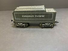 MARX O SCALE 8 WHEEL PLASTIC CANADIAN PACIFIC TENDER , RARE