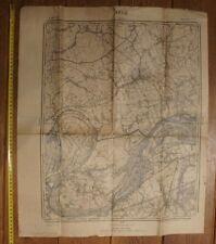 Duitse stafkaart Zele Berlare Wichelen Appels (Oost-Vlaanderen) WO 1 60 cm