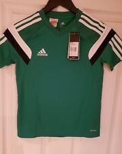 ADIDAS boys green football training shirt youths medium