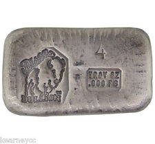 4 TROY OUNCE .999 FINE SILVER HAND POURED BISON BULLION STANDARD BAR NEBRASKA