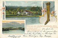 BAVARIA – Gruss Aus Dem Gasthof Lauterbacher Muhle – Germany – udb – 1902