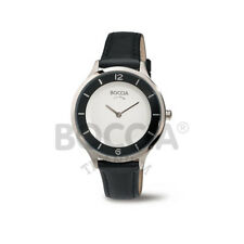 Boccia Uhr Titan Damenuhr analog Lederband 3249-01 Neu