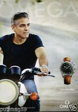 Publicité advertising 2015 La Montre Omega Speedmaster avec George Clooney