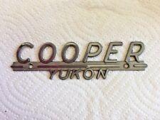 Cooper Yukon tag Metal Emblem Trim Vintage script