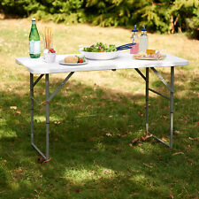 More details for 4ft folding table camping garden fold away dining serving tables buffet car boot