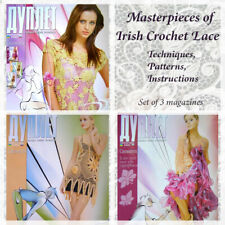 Crochet pattern instructional tutorial Irish Lace Set Duplet magazine Self Study