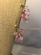 vintage Dangle trifari gold tone earrings Clip On