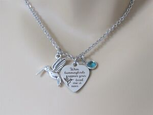 When Hummingbirds Appear Your Loved One Is Near Necklace, Hummingbird Jewelry