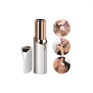 Electric Facial Hair Removal Lipstick Shaped Painless- Extra Heads NWOB