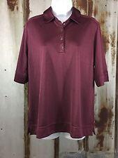 NWT ADIDAS Golf Shirt Women Sz. XL Burgundy Climacool Textured Pretty NWT