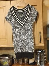 Smart Sleeveless Sweater Dotted Also Silver Specks In Grey And White One Size