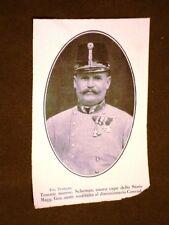 Il Tenente Maresciallo Schemau nel 1911 Capo dello Stato Maggiore in Austria