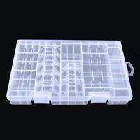 Plastic Box Storage AAA/AA/C/D/9V Case Battery Transparent Rack