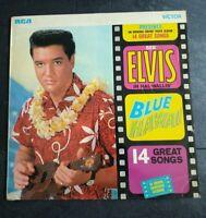 ELVIS PRESLEY blue hawaii 1962 UK RCA VICTOR SILVER SPOT MONO VINYL REISSUE LP