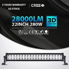 "22inch 280W CREE LED Light Bar Spot Flood Combo Offroad Pickup Truck ATV 4WD 24"""