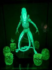 More details for eaglemoss xenomorph mega all glow in dark statue new(box damage) nycc rare