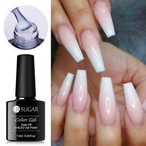 UR SUGAR 7.5ml Nagel Gellack Opal Jelly Gel White Soak Off Nail UV Gel Polish
