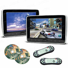 XTRONS 10.1 Inch HDMI Slim Active Car Auto Headrest DVD Player Ir/fm Game Hd106