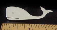 Whale Silver Tone Shiny Chrome-Like Metal Brooch / Pin