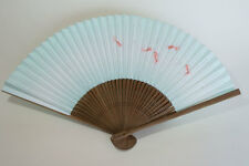 Japanischer Handfächer - Goldfisch Hellblau aus Japan