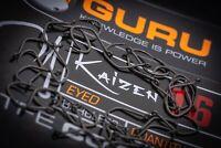 Guru Kaizen Eyed Barbless Hooks x3 Packs *New* - Free Delivery