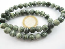 1 filo di perle sfaccettate lucide in serpentino naturale di 8 mm lungo 40 cm