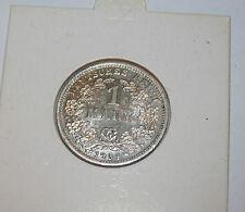 Kaiserreich 1 RM Mark silber Münze 1904 D - Erhaltungsrarität fast wie unbenutzt