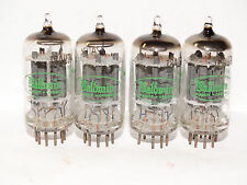 4 x  12au7a Sylvania - Baldwin Tubes * Long Grey Plates *O getter*Match*