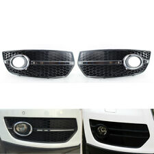 Fit For Audi Q5 2009-2011 Front Bumper Grill Fog Light Lamp Covers ABS & chrome
