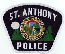 ST ANTHONY POLICE MINNESOTA MN COLORFUL PATCH SHERIFF