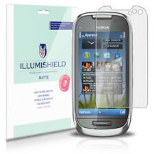 iLLumiShield Matte Screen Protector w Anti-Glare/Print 3x for Nokia C7