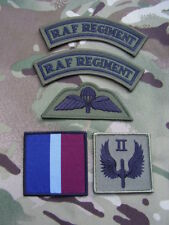 RAF Regiment 2 SQN Military Combat Jacket/Shirt Titles,Para Wings+TRF Badge Set