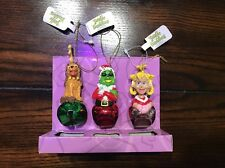 NWT 3 Pcs of The Grinch How the Grinch Stole Christmas Ornament Jingle Buddies