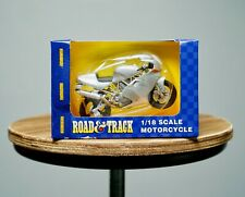 NIB Maisto Road & Track Die Cast Scale Model Toy Motorcycle Ducati Silver Bike