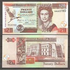 BELIZE - 20 DOLLARS 2012 CONMEMORATIVO P.72     SC  UNC