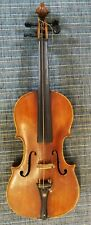 Schöne alte Geige / Violine 4/4 mit Bogen und Koffer