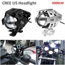 2pcs 125W Black CREE U5 LED For Motorcycle Spot Driving Fog Light BMW Spotlight