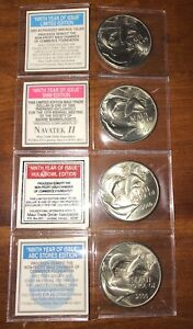 Set of 4 2000 Millenium Maui Trade Dollars $1 Token Hawaii Coin UNCIRCULATED LOT