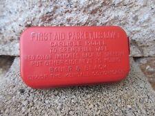 ORIGINALE KIT PRIMO SOCCORSO 1943 US Army Carlisle MODELLO METALLO coperto