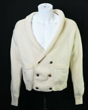 Abercrombie Fitch Vintage Mens L All Wool Button Up Cardigan Shawl Neck Sweater