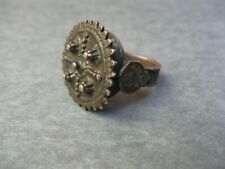 ANTIQUE BEDOUIN YEMENI NOMADIC BRONZE RING Cast Size 9.5 Middle Eastern African