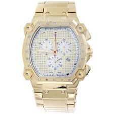Mens Aqua Master Diamond Chronograph Watch 40mm Rectangle Cargo W#143 0.25 Ct.