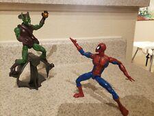 Marvel Legends Spiderman Green Goblin Vintage Toy Biz Lot of 2 Action Figures!!