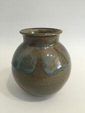 Studio Keramik Vase Laufglasur signiert Art Pottery Denmark? Top Qualität