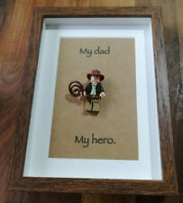 LEGO Indiana Jones gift for Dad - Minifigure in Display Frame with quote